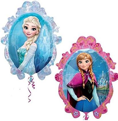 """Frozen Elsa /& Anna 1 Large Supershape /& 4x 18/"""" Foil Mylar Balloon Bouquet"""