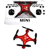 Aisa Mini Pocket Drone Headless Mode 2.4Ghz One Key Return Home RC Quadcopter Altitude Hold for Kids Beginners Toy Red
