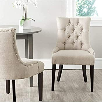 Amazon Com Abby Tufted Side Chairss Antique Gold