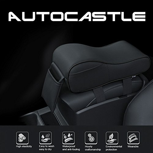 - Autocastle Memory Form Car Armrest Cushions Armrest Center Consoles Head Neck Rest Pillow Pad for Car Motor Auto Vehicle,Armrest Pillow Pad Cushion with Extra Side Pockets