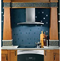 Profile 30 Wall Mount Chimney Hood with 450 CFM Internal Blower Variable Speed Fan Electronic Touch Controls and Dishwasher Safe Filter in Stainless