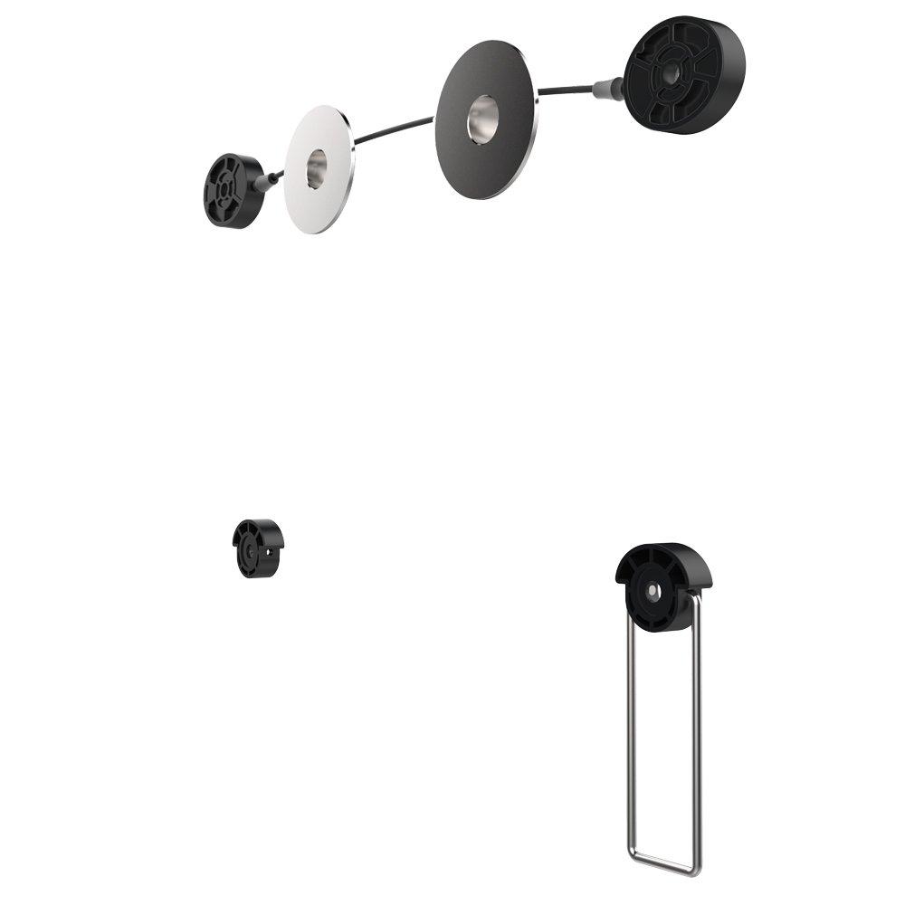 Puremounts PM-WIRE-37 - Supporto a parete per TV fino a 107 cm (42 pollici), ultra piatto, forte, sicuro, capacità di carico: max 40 kg, VESA 200 capacità di carico: max 40 kg