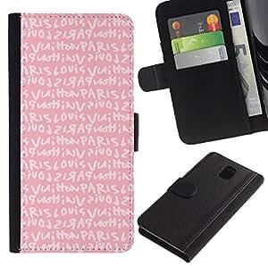 KingStore / Leather Etui en cuir / Samsung Galaxy Note 3 III / Aime les filles de texte romantique