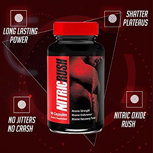 Nitric Rush Strength, Endurance, and Recovery Time L Arginine Boost for Extra Pump in Your Workouts