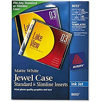 Amazon.com: Staples 501797 Jewel Case Inserts 20/Pack ...