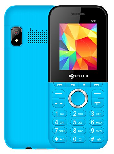 New DTech One - GSM Factory Unlocked Basic Feature Phone - Radio - Dual SIM - Music Player - Torch Light - VGA Camera (Blue)