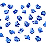 craft gems blue - Acrylic Color Ice Rock Crystals Treasure Gems for Table Scatters, Vase Fillers, Event, Wedding, Arts & Crafts, Birthday Decoration Favor (190 Pieces) by Super Z Outlet (Royal Blue)
