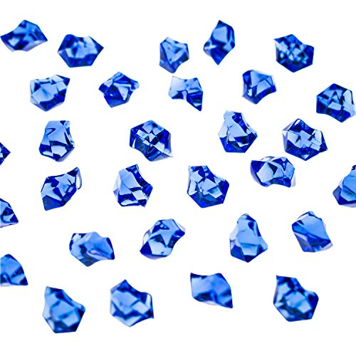 Acrylic Color Ice Rock Crystals Treasure Gems for Table Scatters, Vase Fillers, Event, Wedding, Arts & Crafts, Birthday Decoration Favor (190 Pieces) by Super Z Outlet (Royal Blue)