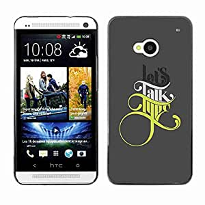 Planetar? ( Lets Talk Type ) HTC One (M7)hard printing protective cover protector sleeve case