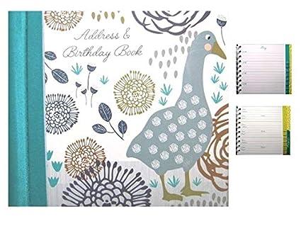 Libreta de direcciones y cumpleaños decorativa, diseño de ...