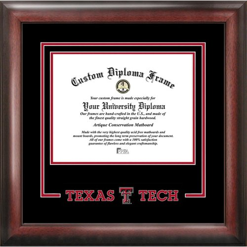 Texas Tech Red Raiders Spirit Diploma Frame by Landmark Publishing