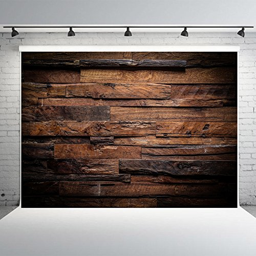 7x5ft Wood Wall Photography Backdrops Vinyl Brown Vintage Photo Background Studio Props for - Diy Photo Camera Booth Digital