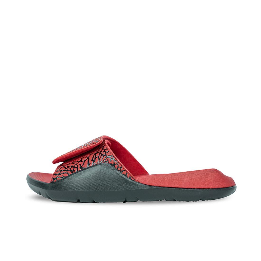 98e36f90b6d Amazon.com: Jordan Hydro 7 V2 Black/Black-Gym Red, 12 D(M) US: Clothing