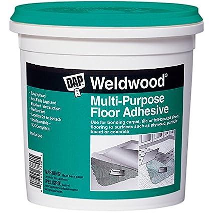 Dap 00141 Multi-Purpose Floor Adhesive, 1-Quart