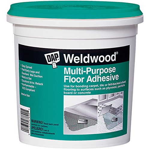 Dap 00141 Multi-Purpose Floor Adhesive, 1-Quart (Sheet Adhesive Flooring)