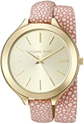 Michael Kors Women's MK2476 Slim Runway Pink Watch