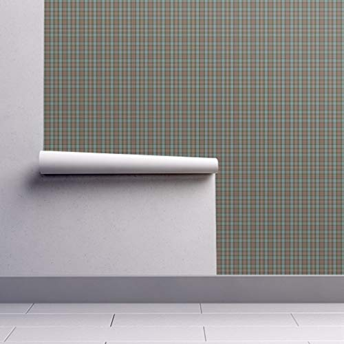 Fraser Wallpaper Roll - Tartan Hunting Weathered Scottish Doll Scale by Weavingmajor - 1 Roll 24in x 27ft