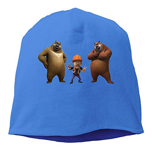 YUVIA Boonie Bears Men's&Women's Patch Beanie Mountain ClimbingRoyalBlue Caps For Autumn And Winter (Fruit Of The Loom Halloween Costumes)
