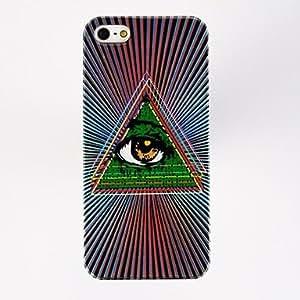 TY-Patrón Punk Triángulo de ojos TPU caso suave para el iPhone 5/5S , Multicolor
