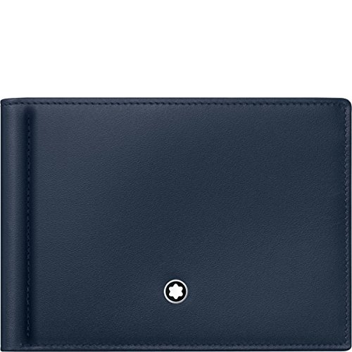 Montblanc Meisterstuck Men's Leather Wallet 6cc with Money Clip ()
