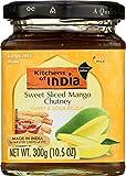 Kitchens Of India Sweet Sliced Mango Chutney, 1.5-Ounce Glass (Pack of 6)