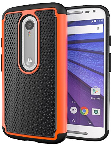 Moto X Pure Edition (Moto X Style) Case, Cimo [Shockproof] Case Heavy Duty Shock Absorbing Dual Layer Protection Cover for Motorola Moto X Style / ...