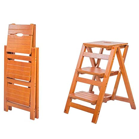 Fine Amazon Com 51Cm Height Wood Safety Step Stool Stepladder Machost Co Dining Chair Design Ideas Machostcouk