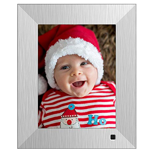 NIX Lux Digital Photo Frame 8 inch X08F, Metal. Electronic Photo Frame USB SD/SDHC. Digital Picture Frame with Motion Sensor. Control Remote and 8GB USB Stick Included