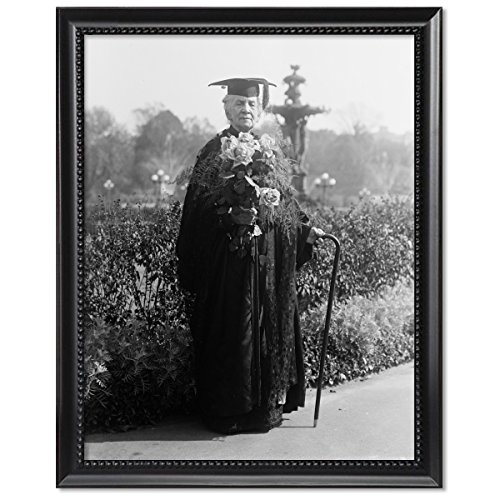 (ClassicPix Black Wood Framed Print 8x10: Miss Belva Ann Bennett Lockwood, Lawyer, 1915)