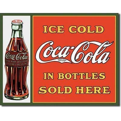 MMNGT Coca Cola Coke Bottles Sold Here Retro Vintage Tin Sign TIN Sign 7.8X11.8 INCH