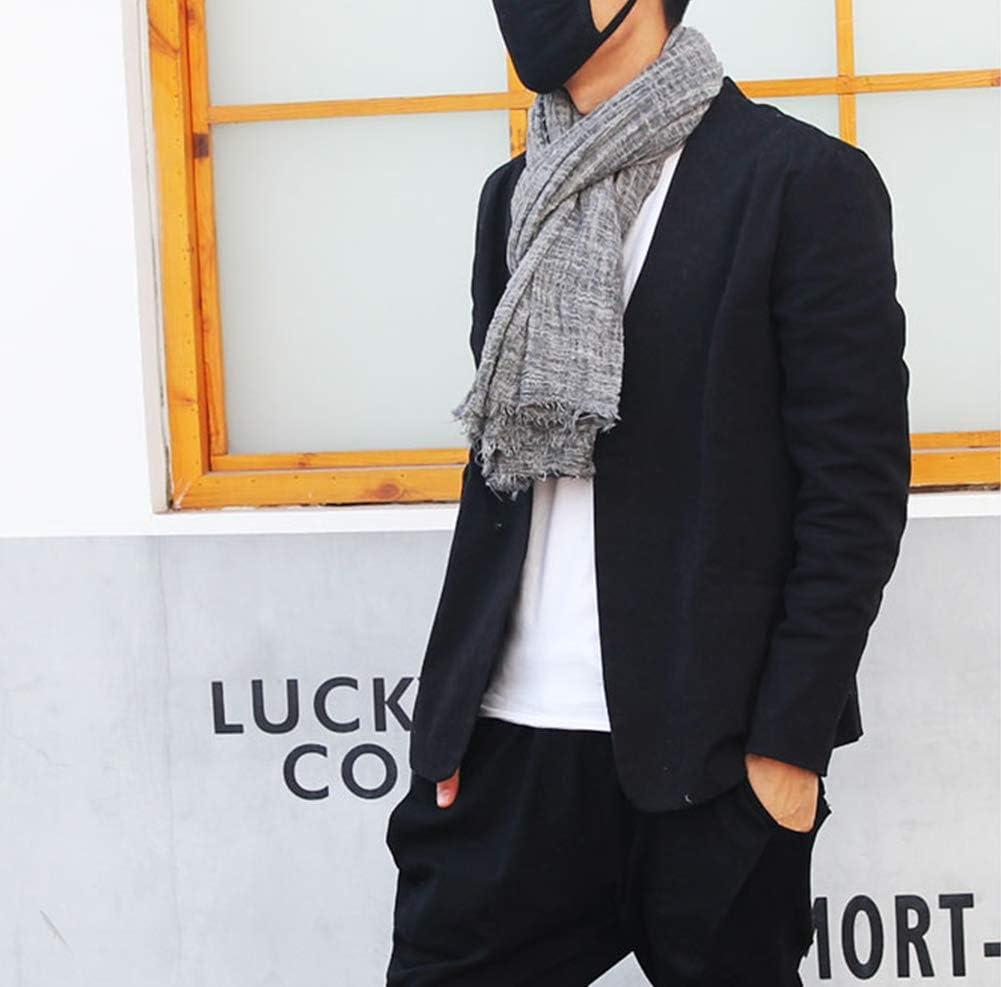 80cm 180 Fansi 1 Men s Business Glamour Student Pareja Long c/álido Punto Grueso algod/ón Flecos Bufanda Negro