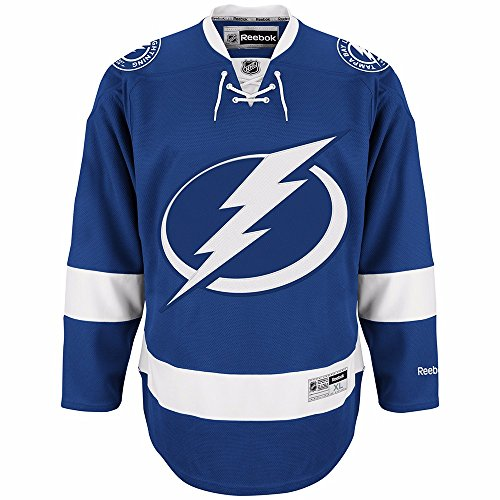 NHL Men's Tampa Bay Lightning Reebok Edge Premier Team Jersey - 7185A5Lshpjtbl (Blue, X-Large) (Hockey Ice Bay Tampa Lightning)