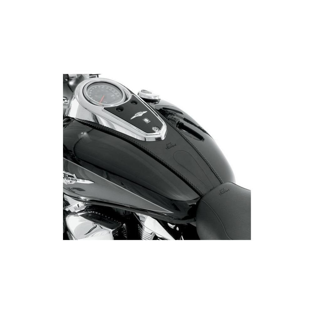 Mustang Plain Black Tank Bib for 2003-2009 Honda VTX1300C One Size