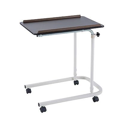 LSFF Ruedas fáciles de Mover Mesa de cabecera Móvil portátil de Ordenador pequeño Escritorio de Escritorio