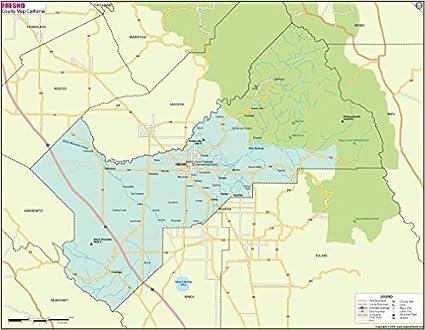 Fresno County Map Amazon.: Fresno County Map ( 36
