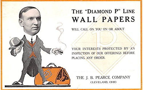 Hardware Advertising Old Vintage Antique Post Card Diamond P Line Wall Papers