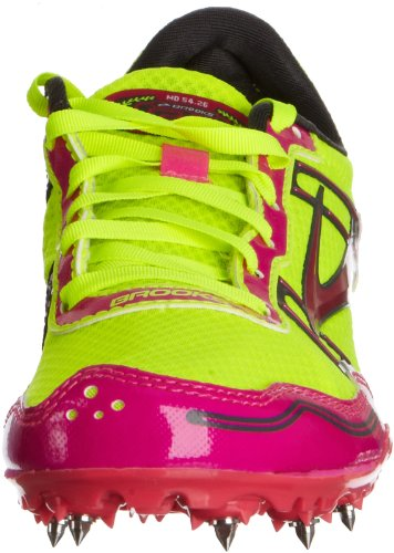 Brooks Womens Pr Md 54.26 Baan Spikes Pink Glownightlife Antraciet 6.5 Md Pink Glownightlife Antraciet
