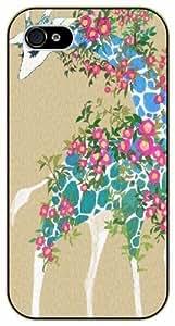 Floral Giraffe - Case For Sam Sung Galaxy S4 Mini Cover black plastic case / Animals and Nature