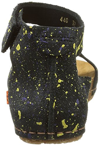 Donna Creta Black Nero Art Sandali dotted zYEHw