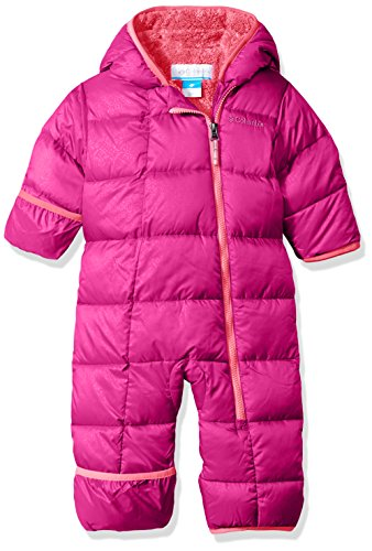 Columbia Baby Girls' Frosty Freeze Bunting, Deep Blush Snowflake Emboss, 12-18 Months