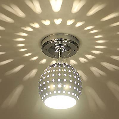LightInTheBox 3W Modern Led Ceiling Light with Scattering Globe Light Design Shadow Effect, Ceiling Light Fixture Flush Mount with Bulb Included