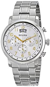 Bulova Men's 96B201 Analog Display Japanese Quartz White Watch