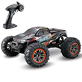 Hosim Giant Dimension 1:10 Scale Excessive Velocity 46km/h 4WD 2.4Ghz Distant Management Truck 9125,Radio Managed Off-road RC Automobile Digital Monster Truck R/C RTR Passion Grade Cross-country Automobile (Black)
