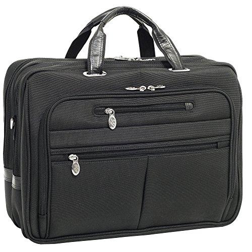 [McKleinUSA ROCKFORD 76515 Black Nylon Fly-Through Checkpoint-Friendly 17 Laptop Case] (Leather Nylon Briefcase)