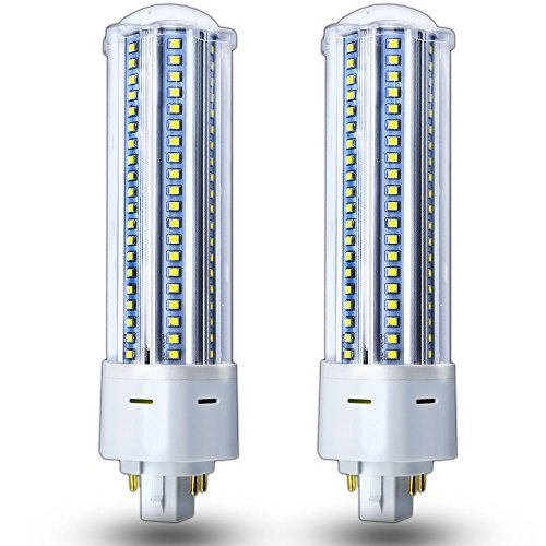 (Luxvista LED G24Q PL Lamp 4-Pin Universal Corn Light Bulb 42 Watt GX24 Compact Fluorescent Lamp Equivalent GX24Q Base Daylight Lights for Warehouse Garage Home Lighting, Remove/Bypass Ballast )