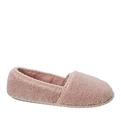 13e51bcc08a Dearfoams Women s Closed Back A-Line Slipper with Skid -Resistant Rubber  Outsole