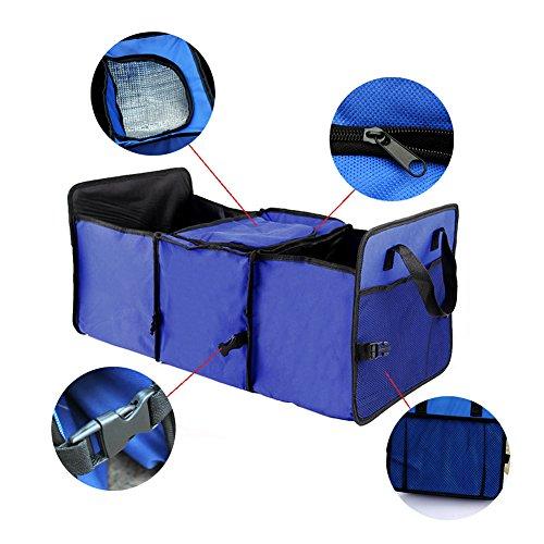 camion X-cosrack Organisateur de coffre de voiture cargaison multi-compartiments portables pliables avec sangles lavables rangement avec sacs isothermes isolants pour SUV automobile fourgonnette