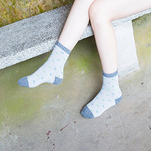 JOYCA & Co. 3-5 Pairs Womens Multicolor Fashion Warm Wool Cotton Thick Winter Crew Socks (Tiny Love) by JOYCA & CO. (Image #3)