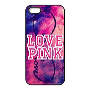 Customiz Love Pink Back Cover Case for iphone 5 5S JN5S-2506