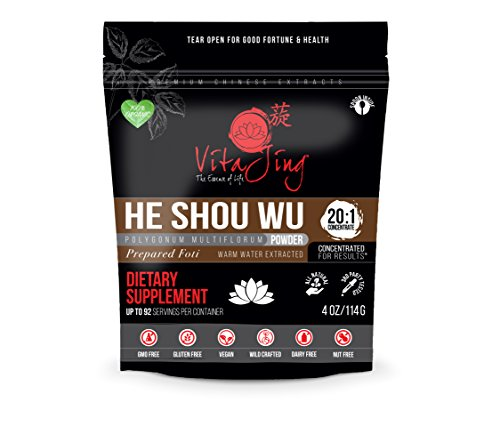 Vitajing He Shou Wu Powder Extract Organic 20 1 Concentration 2oz